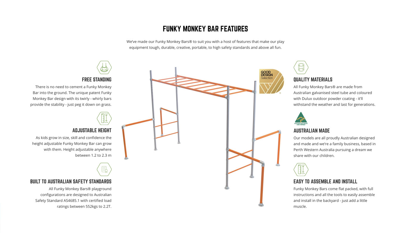 Funky Monkey Bars | eCommerce Website Design Perth | Shopify Experts